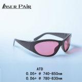 Proteger vidros de segurança do laser dos óculos de proteção 755nm Atd do laser do comprimento de onda 740-850nm para o Alexandrite