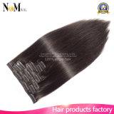 人間の毛髪の拡張毛の拡張自然な人間のバージンの毛7Aの等級のインドボディ波クリップのクリップは出荷を解放する