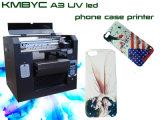 Impresora de la cubierta del teléfono de la talla A3 de la impresora ULTRAVIOLETA de la caja/del teléfono móvil