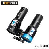 Hoozhu 새로운 V30 잠수 영상 가벼운 최대 2600lm는 120m 1*32650battery를 방수 처리한다