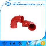 Accessorio per tubi Grooved verniciato rosso del ferro duttile