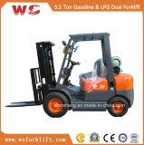 熱い販売3.5のトンGasoline/LPGのフォークリフト/3500kg LPG/Gasolineのフォークリフト