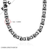 方法男女兼用のためのパンク様式のステンレス鋼の長いネックレス