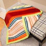 Одеяло младенца одеяла ватки фланели полиэфира напечатанное двойником
