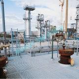 Calzada Grating de acero de Multipanel en la plataforma petrolera