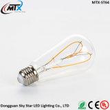 최신 판매 디자이너 심혼 모양 유연한 LED 필라멘트 Edison 전구