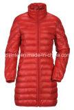 Casaco comprido em nylon de inverno acolchoado para mulheres