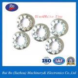 Rondelle à ressort en acier dentelée interne de blocage de l'acier inoxydable DIN6798j