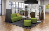 Partition en bois en verre en aluminium moderne de /Office de poste de travail de compartiment (NS-NW142)