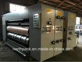 自動段ボールFlexoの印刷、細長い穴がつくおよび型抜き機械