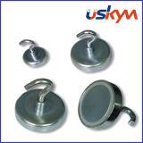 Mandril magnético / Pot/ Rodada atracção magnética Ímã / gancho magnético