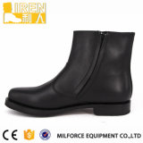Black Genuine Leather Factory Preço Mens Ankle Office Shoes