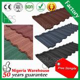 Feuilles résistantes de toiture en métal de tuile de toiture de matériaux de construction de temps imperméable à l'eau