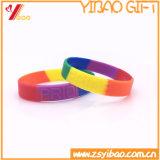 Kundenspezifisches Deboss Firmenzeichen 1 Zoll Seagment Farben-SilikonWristband (YB-SW-015)