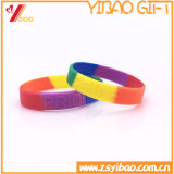 Logotipo feito sob encomenda de Deboss Wristband do silicone da cor de um Seagment de 1 polegada (YB-SW-015)