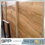 Polished Wood Grain Yellow Natural Marble Slab for Vanity Top