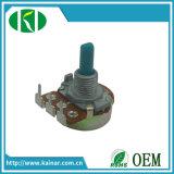 Potentiomètre rotatoire d'élément simple de Jiangsu 16mm avec 3 bornes dépliées