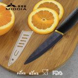 台所ツールを4インチの黒の優雅なハンドルが付いている陶磁器のフルーツのナイフ配りなさい