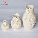 手細工のガールフレンドのための白い現代つぼのホーム上等の装飾的な陶磁器のつぼ、ギフト、お母さん、誕生日および結婚式