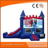 スライド(T3212)を持つ子供のためにコンボ凍結する跳躍の弾力がある城