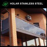Barandilla superior del vidrio del acero inoxidable de Frameless ASTM de la fábrica de la marca de fábrica