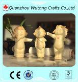 Estatuillas lindas del ángel de la mini de la talla de la resina del bebé del ángel decoración del hogar