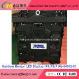640 X 640 mm al aire libre Alquiler P8 HD Alquiler P8 exterior Pantalla LED Pantalla LED