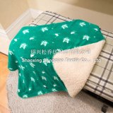 100% poliéster impresso Sherpa Fleece Blanket / Baby Blanket