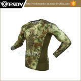 Quick-Drying táctico camisa de manga longa luta contra a camisa Militar Camouflage
