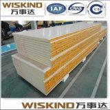Panel de sándwich de lana de roca ignífugo / PU / EPS con ISO9001