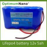 precio de fábrica LiFePO4 12V 5Ah batería recargable de UPS