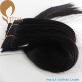 30% de desconto Natural Black Straight Brazilian Vrigin Hair Weft