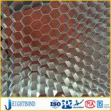 Matériau de construction en aluminium en pierre de marbre noir de panneau de nid d'abeilles