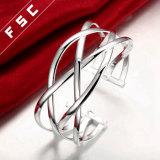 Heißes Verkaufs-Form-Silber überzog Crosswire Schnitt-Armband für Mädchen