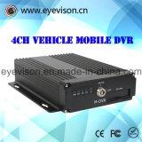 3G GPS/4-Channel запись номера канала 1d1 в реальном масштабе времени автомобиля поддержки DVR SD H. 264 портативного тональнозвуковые CIF в реальном масштабе времени и максимум 128g 1000 GB жесткия диска