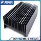 Fregadero de aluminio del perfil de alta calidad con el color anodizado negro