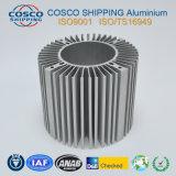 Perfil de aluminio de la competencia para el disipador de calor con el mecanizado y anodizado plata