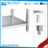 輸送のための高さの調節可能な足を搭載するステンレス鋼の正方形の管の移動可能な仕事台