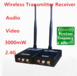 4channels2.4G 3W AV sans fil caméra CCTV Télévision expéditeur émetteur récepteur DVR Audio Vidéo