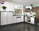 防水合板のLacqureの光沢のあるドアが付いている小さい食器棚(カスタマイズされる)