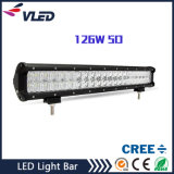 20 viga combinada de conducción campo a través recta de la inundación del punto de la lámpara de la barra ligera de la pulgada 5D 126W LED