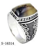 자연적인 돌 남자 반지를 삭감하는 새 모델 925 은 예멘