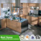 白いカラーPVC膜の台所デザイン