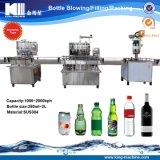 Tipo máquina de relleno del transportador del lacre del agua manual