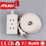 Power 2 Pin 2 Gang Universal Electric Extension Socket