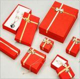 Anillo de joyería lleno Conjunto de papel del regalo pendiente del collar de la caja de embalaje