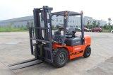 4ton diesel Automatische Vorkheftruck met Chinese Motor A498, het Opheffen 2stages van 3m Hoogte, een Goede Prijs van de Fabrikant