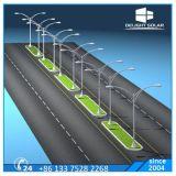 Stahlstraßen-im Freienlicht der 10m-achteckige Pole Q235 doppelte Lampen-LED