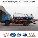 Camión de succión de alcantarillado de 10cbm Euro 4