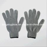 Chaîne de gris et de polyester et coton gant tricoté (2312)